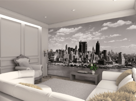 New York City Black & White wall wallpaper